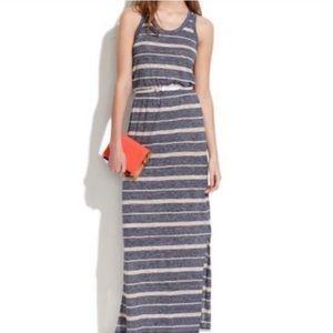 Madewell Razorback striped maxi dress
